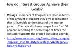 how do interest groups achieve their goals4