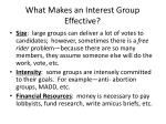 what makes an interest group effective