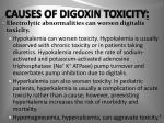 causes of digoxin toxicity1
