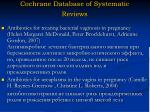 cochrane database of systematic reviews1