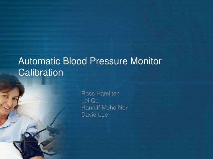 automatic blood pressure monitor calibration n.
