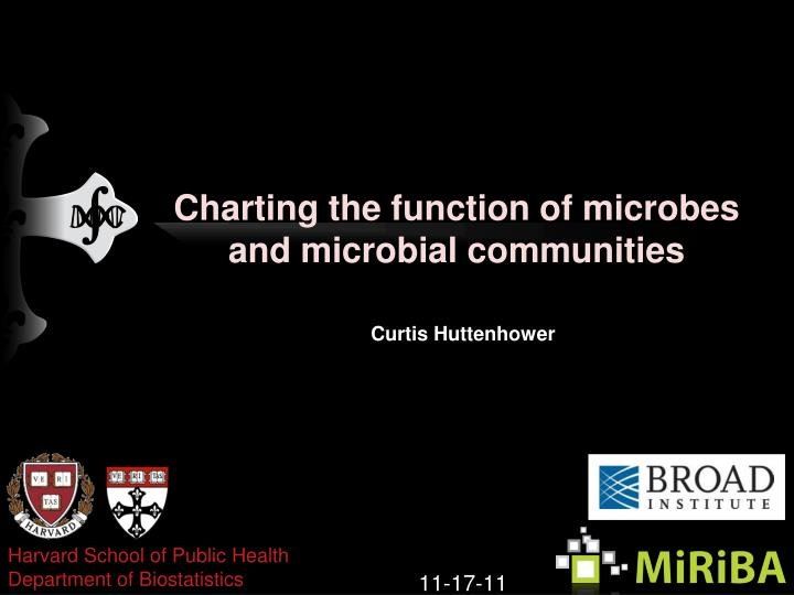 charting the function of microbes and microbial communities n.