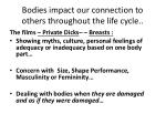 bodies impact our connection to others throughout the life cycle
