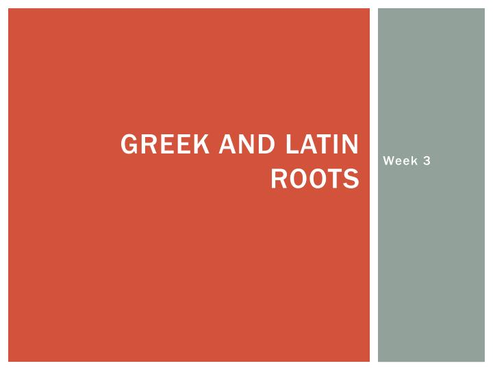 greek and latin roots n.
