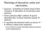 physiology of absorption water and electrolytes1
