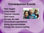 consequence events
