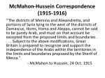 mcmahon hussein correspondence 1915 19161