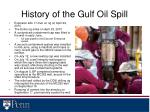 history of the gulf oil spill
