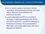 prevenzione primaria del cervicocarcinoma