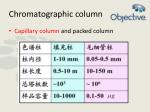 chromatographic column