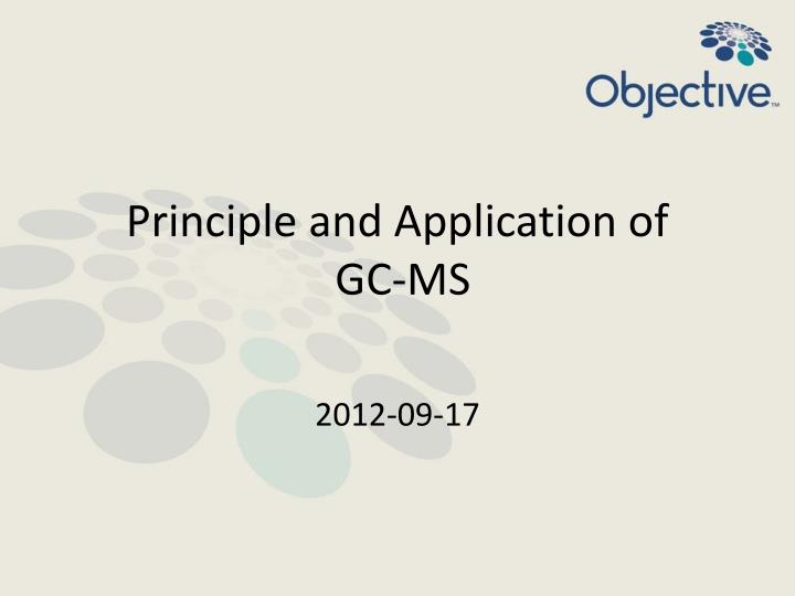 principle and application of gc ms