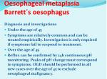 oesophageal metaplasia barrett s oesophagus2
