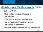 c a carbone v rockland county 20141