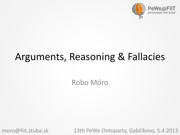 arguments reasoning fallacies n.