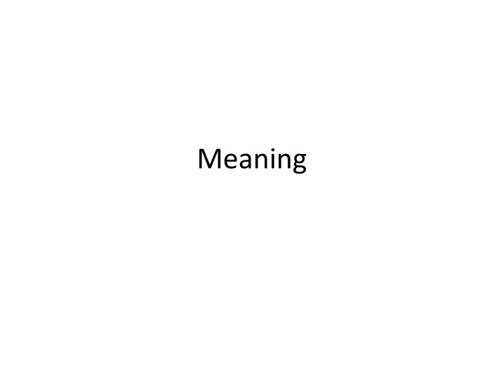 meaning n.
