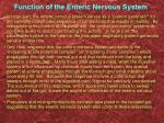 function of the enteric nervous system