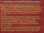 influences on the enteric nervous system