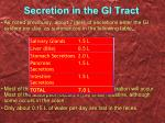 secretion in the gi tract