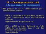 iii le d veloppement d un mdt c la commission de transparence1