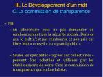 iii le d veloppement d un mdt c la commission de transparence2
