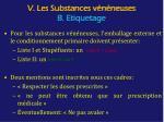 v les substances v n neuses b etiquetage