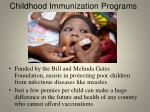 childhood immunization programs