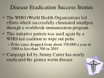 disease eradication success stories