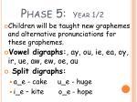 phase 5 year 1 2