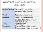 what does a phonics lesson look like