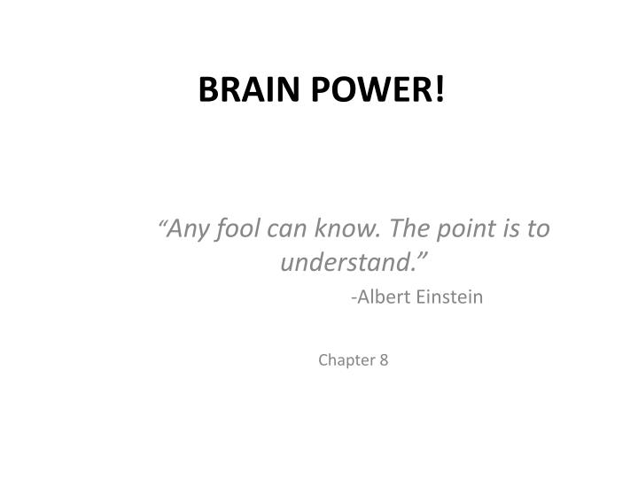 brain power n.