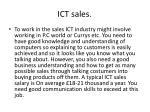 ict sales