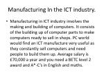 manufacturing in the ict industry