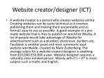 website creator designer ict