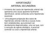 hipertens o arterial secund ria