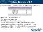 future growth wla