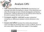 analysis cats
