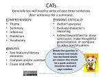cats generally you will need to write at least three sentences four sentences for a summary