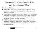 common core state standards in art spiegelman s maus