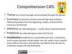 comprehension cats