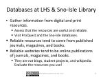 databases at lhs sno isle library