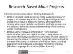 research based maus projects