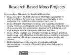 research based maus projects1