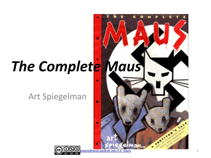 the complete maus n.