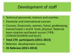 development of staff
