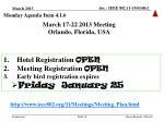 march 17 22 2013 meeting orlando florida usa