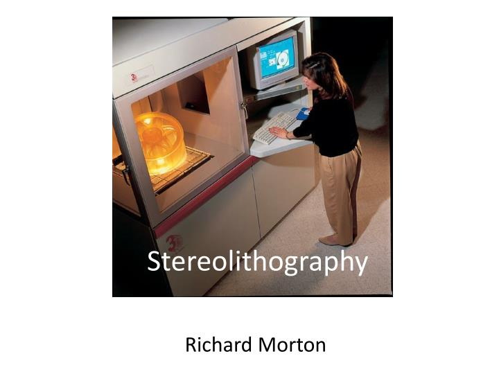 stereolithography n.