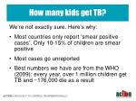 how many kids get tb