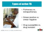 types of active tb