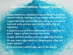 extra information copper sulfate