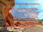 extra information the use of copper in ancient times